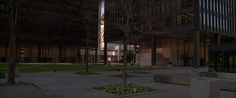 Bateman's office in daylight.