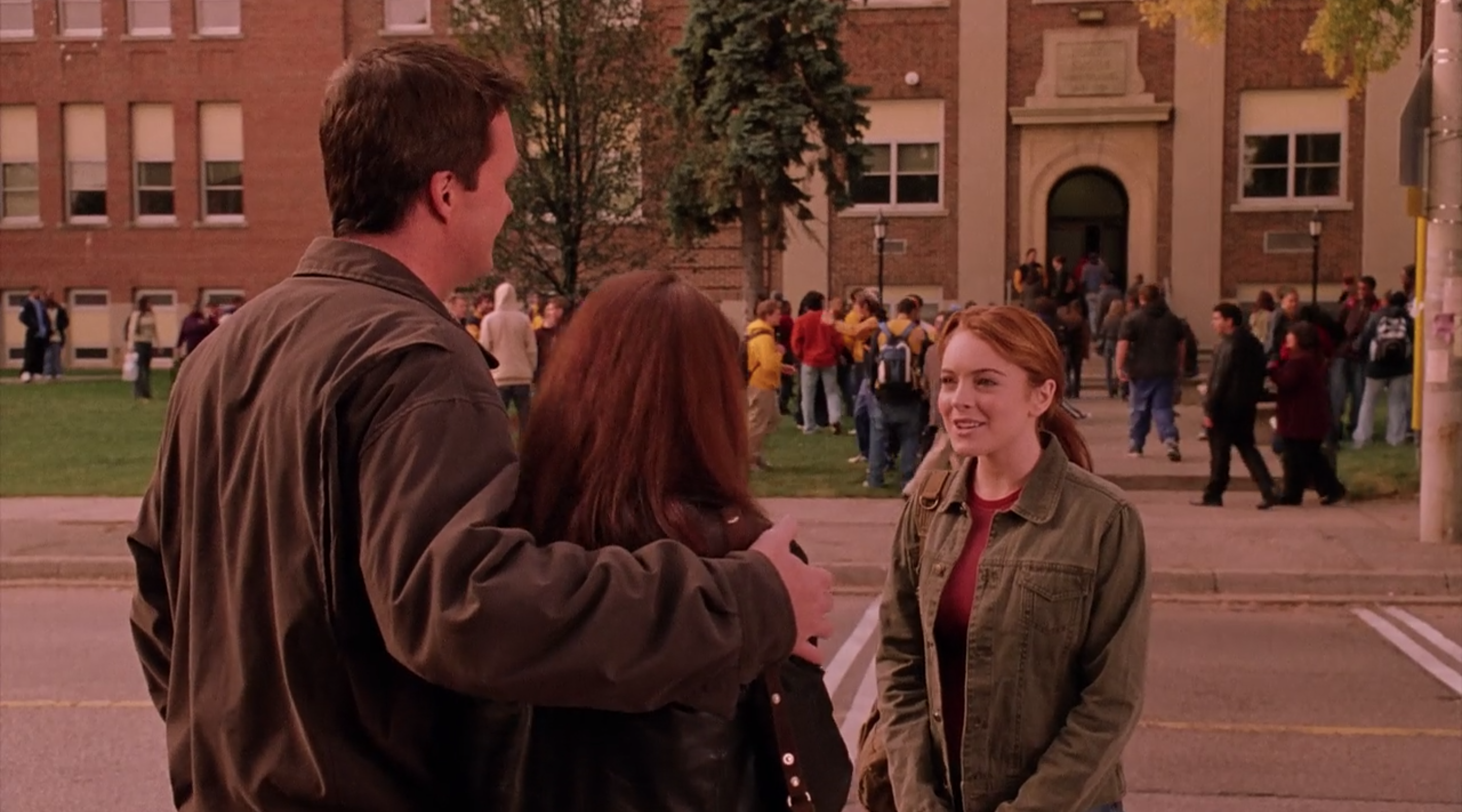Cady's arrives for her first day of school.