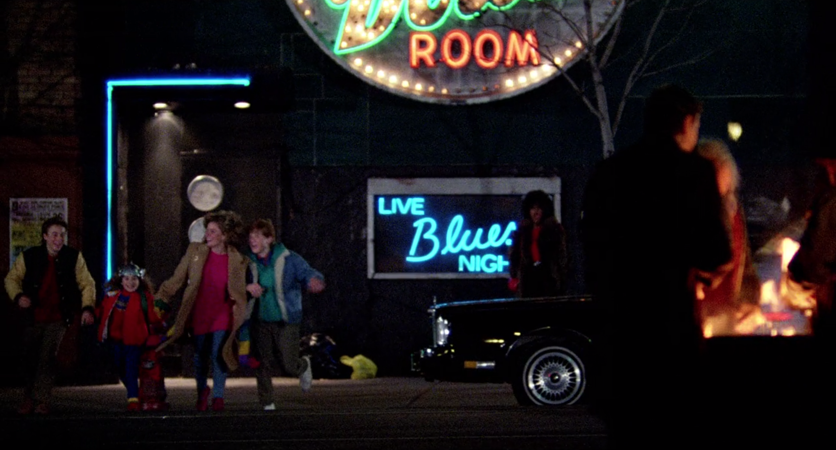 The gang arrive at the Silver Dollar Room.